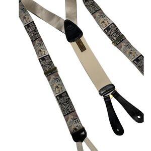 Trafalgar Limited Edition Silk Suspenders Braces Calvin Curtis Romeo & Juliet