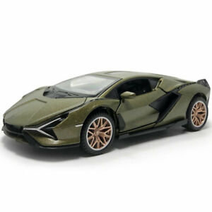 1/32 2019 Lamborghini Sian FKP 37 Model Car Diecast Toy Vehicle Sound Gift Green