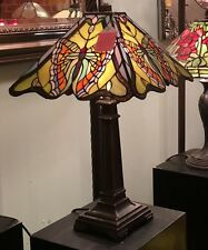 MONARCH  BUTTERFLY 35CM WIDE TIFFANY STYLE LEADLIGHT TABLE LAMP LIGHT -  NEW