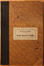 Original 1920 Duluth, South Shore & Atlantic Railway Tariffs Book