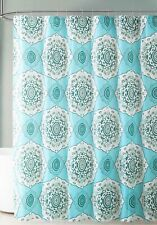 "Teal Blue Green PEVA Shower Curtain Liner Odorless, PVC Free,  Eco-Friendly 72""L"