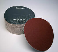 "BAOSTC 5"" no holes P120 hook and loop sanding disc,aluminum oxide,50PACK"