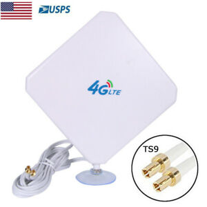35dBi 4G LTE Antenna WiFi Signal Booster Amplifier with TS9 Connector Cable 2M