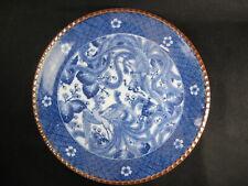 "Antique Japanese Meiji Era (c1910) 12"" Ceramic Blue/ White Imari Charger Phoenix"