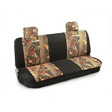 KING'S CAMO WOODLAND SHADOW CAMOUFLAGE BENCH SEAT COVER W/ 2 HEADREST