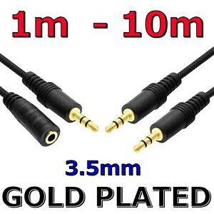AUX Male to Male / Female Audio Cable 3.5MM Plug Stereo Headphone Cord Extension