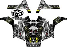 """Polaris RZR 170 Graphic kit Wrap Decal Package - """"Overheated Skull"""""""