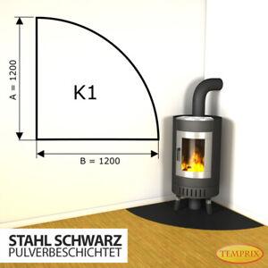 Kamin Bodenplatte Funkenschutz Kaminplatte Stahl schw Ofen Platte Ofenblech -K1