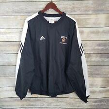 Adidas Size L Quincy University Pullover Jacket Windbreaker 2003 Black Unisex