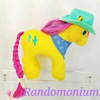 My Little Pony MLP G1 Vtg BIG BROTHER Boy Tex Texas Clydesdale Cactus Cowboy Hat