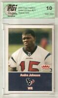 Andre Johnson 2003 Fleer Tradition Rookie Card PGI 10