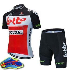 Mens Cycling Jerseys Bib Shorts Set Cycling Clothing Bicycle Short Sleeve
