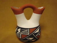 Native American Acoma Indian Pottery Hand Painted Wedding Vase! Victorino PT0231