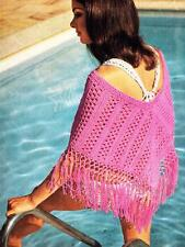 EASY FUNKY PONCHO / DK or 8ply - wool or cotton - COPY Ladies crochet pattern