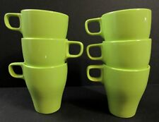 Ikea Coffee Mugs Cups Stackable Set of 6 Lime Green