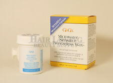 GiGi Microwave Sensitive Tweezeless Wax 1oz, facial hair remover-cera removedor