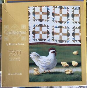 """Quiltscapes 750 Piece Puzzle """"Hen and Chicks"""""""
