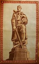 DDR Russian Soviet carpet rug gobelin soldier treptov park propaganda WW2