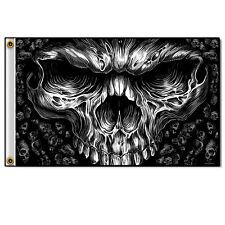 """Shredder"" Skull Grim Reaper Face 3' x 5' Flag or Wall Display #1059"