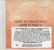 (DI475) How To Dress Well, And It Was U - 2012 DJ CD