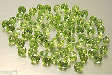 PARCEL 40 pieces 3 mm BRILLIANT ROUND NATURAL PERIDOT #R537