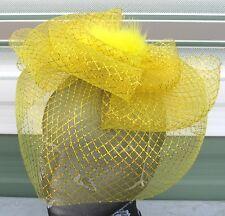 GOLD Fascinator con Piume modisteria Burlesque Cerchietto Matrimonio Cappello Gare Ascot