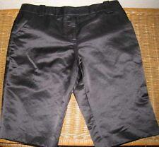 Tory Burch BLACK SATIN Tuxedo Bermuda Shorts Sz S - 6-Bergdorf Goodman Rt. $295