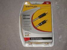 6 ft. RCA Stereo Audio Cable HDTV AV Receiver Music Sound NEW!