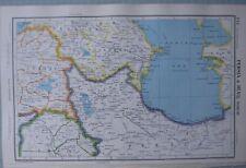 1952 MAP PERSIA & IRAQ NORTH ~ AZERBAIJAN SEWUM TABRIZ TURKEY MOSUL SULAIMANIYA