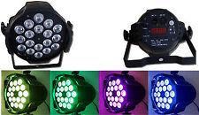PAR RGB DISCOTECA 18 LED X 10 WATT DMX 180W DJ FESTE LUCI MULTICOLORE DMX512