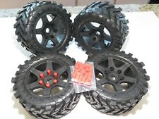 YY X-MAXX 8S TRUCK 211X104MM THRASHER TIRES MOUNTED 24MM USES MADMAX ADAPTER