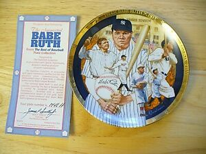 """The Hamilton Collection - """"The Best of Baseball"""" Babe Ruth Plate - 6 1/2"""" - NEW"""