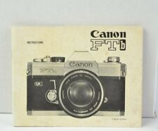 Canon FTb Camera Instruction Manual User Guide English GC (310)