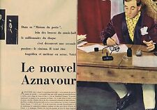 Coupure de presse Clipping 1959 Charles Aznavour  (8 pages)