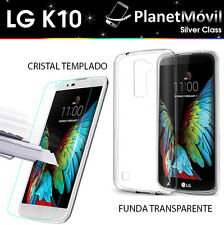PACK SLIM COQUE HOUSSE SILICONE ULTRATHIN  + PROTECTION FILM VERRE TREMPE LG K10