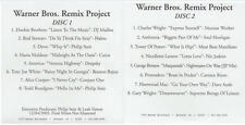 Warner Bros. Remix Project PROMO w/ Artwork MUSIC AUDIO CD Alice Cooper remixes