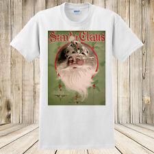 Santa Claus Christmas T-shirt 1907 Antique Sheet Music Xmas Art Custom Shirt New