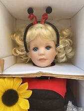"""Cute The Hamilton Collection """"Little Ladybug� by Laura Cobabe Artist Doll New"""
