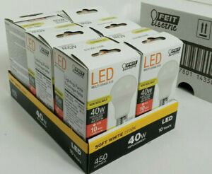 BRAND NEW Feit Electric LED Non-Dimmable 40W A19 BOX OF 6