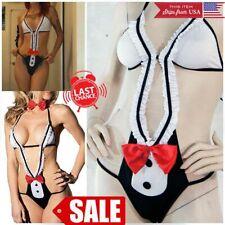 Women SALE Sexy Babydoll Costume Maid Underwear Thongs Lace Lingerie Nightwear