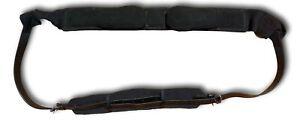 Black Leather Web Lunge Roller