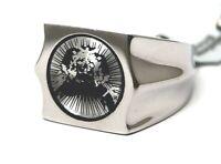 Men's Ring Surgical Steel Unique Conversation Piece Size 8.5 Bold Brand NEW
