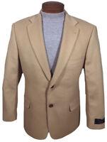 Men's TURNBURY Tan Camelhair Jacket Blazer 44 Long 44L NWT NEW F65ZT $395 WoW