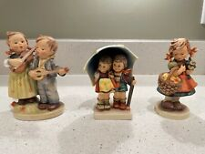 Vintage Goebel Hummel Figurines - Happy Days, Stormy Weather and Autumn Harvest