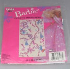 BARBIE PARTY Plastic door sign NEW-SEALED - 1990 - 47.5 x 24 inch