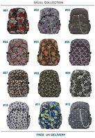 SKULL SUGARSKULL Backpack Rucksack Cool School College Goth Emo Punk Rock Bag