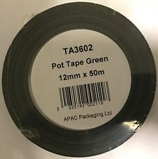 POT TAPE GREEN ADHESIVE WATER PROOF FLORIST ANCHOR TAPE 6 mm, 12 mm x 50 m