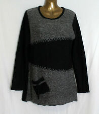 APRICOT  tunic jumper with obsure pocket Boucle Knitwear long sleeves UK10-12