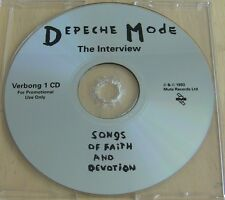Depeche Mode Songs Of Faith And Devotion (The Interview) Rare Promo CD Verbong1
