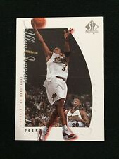 ALLEN IVERSON SP AUTHENTIC 2000 SIXERS BASKETBALL CARD